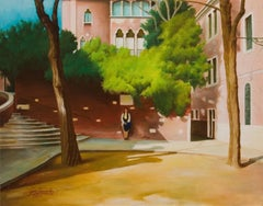 To the Guggenheim, Venice, American Realist, Landscape, Peggy Guggenheim