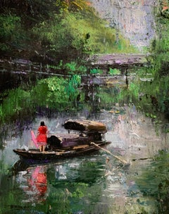 Hidden Places, Impressionism, Portrait, Cuban Artist in USA, Landscape