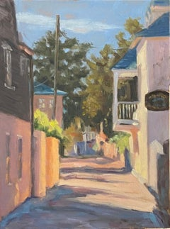 A Small French Village , French Village, oil painting,  France ,Women Artists