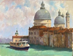 Venice Canal ,Venice Amer. Impressionist Painter, Oil Painters of America, Italy