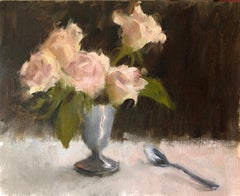 Roses, 8x10 ,Impressionist Painter, Oil Painters of America ,Painting