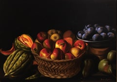Italian Fruits, Still-life, Italian artist, Florence, Realism, Oil Painting.