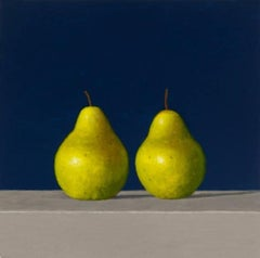 Two Pears, oil painting, American Realism, Still-life, Small painting,Realist