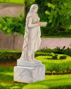 LADY GANDES GARDEN / RIENZI, MFAH Houston, Realism, Oil Painting,