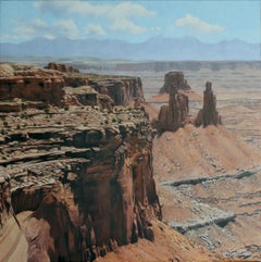 Canyon Lands , Landscape oil painting, in the  Realism style, Texas artist