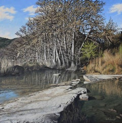 Frio River, oil painting Realism style, Texas Artist