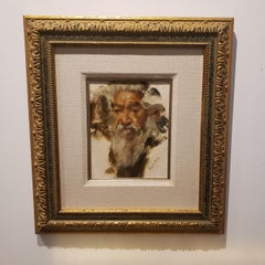 The Wise Man,oil painting, Benjamin Kelley, Southwest Art, 21x19 framed portrait