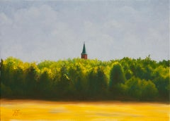 St. Mary's Church in Schulenburg, Realism, Oil Painting, Painted Churches