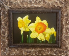 Daffodils, Realism, Oil Painting, Realism, Floral Paintings , Gary Hernandez
