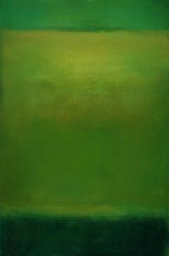 Variations of Green, abstract, Texas artist, Shades of Greens ,