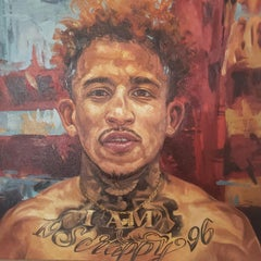 "John ""Scrappy"" Ramirez, portrait, pro-boxer, oil painting, Churchill,"