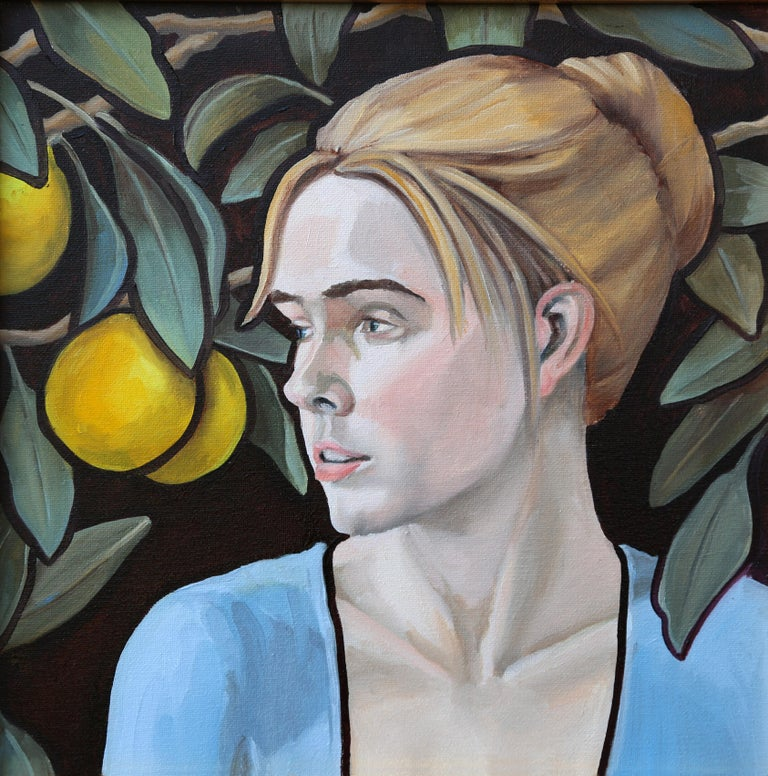 Honora Jacob Portrait Painting - Giea, oil painting, Texas artist, Realistic painting, Historical Figures