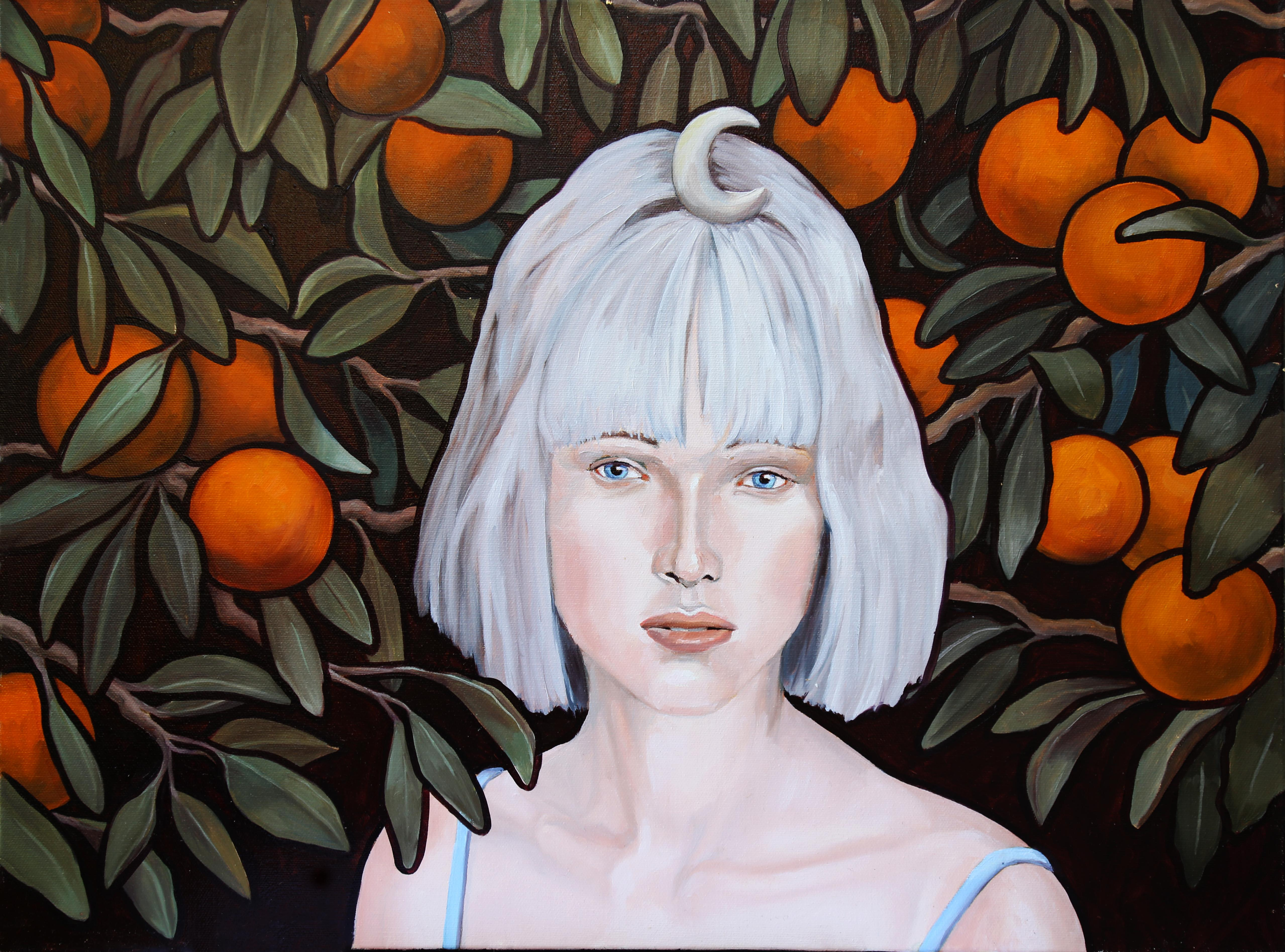 Luna, oil painting, Women in the Arts, Realistic painting, Historical Figures