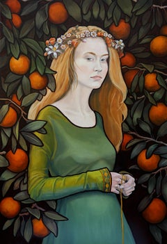 Pomona, oil painting, Women in the Arts, Realistic painting, Historical Figures