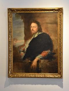 Portrait of Nicolas Lanier after Sir Anthony Van Dyck, Figurative Texas artist