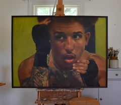 """John """"Scrappy"""" Ramirez, portrait, pro-boxer, oil painting, Execute Your Plan"""