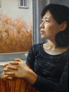 """Raven, in profile"" Lis Pardoe, figurative oil painting, emerging artist"