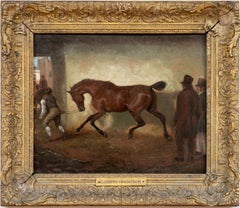 "Horse Portrait Early 19th Century ""Bay Horse Being Led Out of a Barn"""