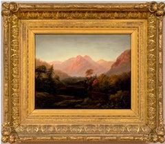 """""""Mountainous Landscape"""" Samuel L. Gerry (American 1813-1891)"""