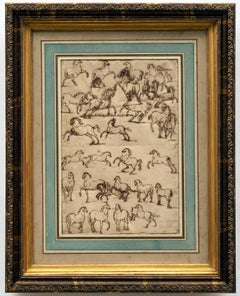 Studies of Horses Sebastien Leclerc (French 1637-1714)