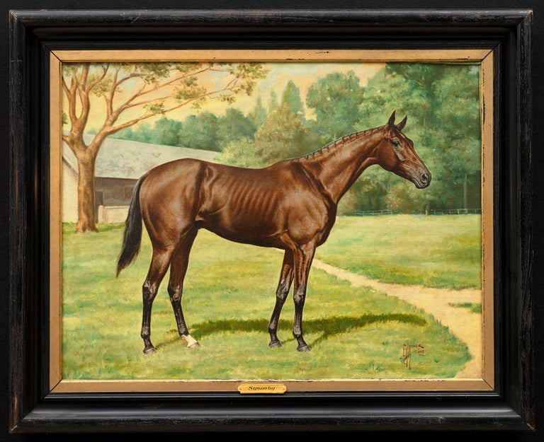 "Edward Herbert Miner Portrait Painting - Horse Portrait- ""Sysonsby,"" Edward Herbert Herbert Miner. ex Sotheby's 2004"