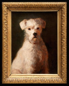 "Dog Painting ""Rags an Old Jack Russell Terrier,""  Royal Academy 1903"