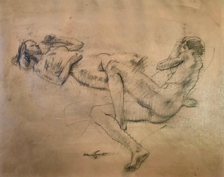 "Warren Brandt Figurative Art - ""Female Nude Study"""