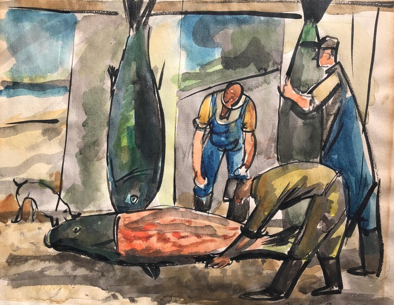 """Fish Mongers"" - Post-Modern Art by Nicolai Cikovsky"