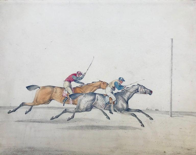 """Henry Alken Figurative Art - """"The Race"""""""