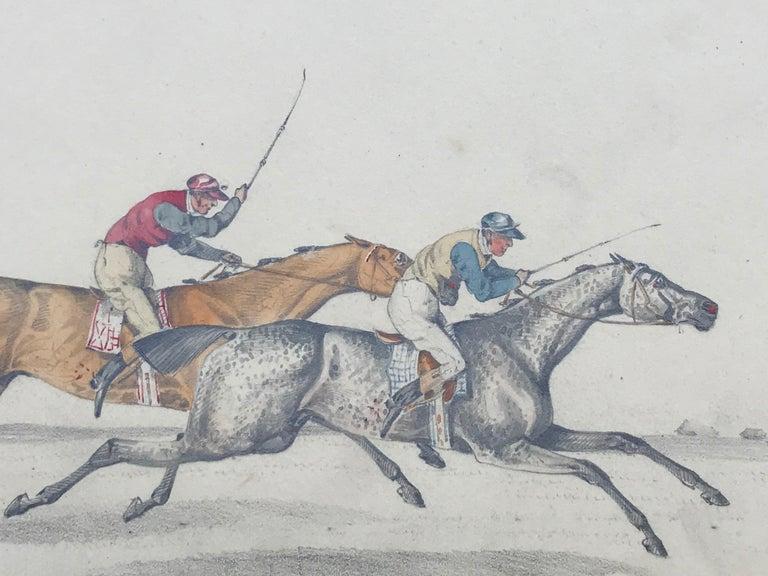 """""""The Race"""" - Gray Figurative Art by Henry Alken"""