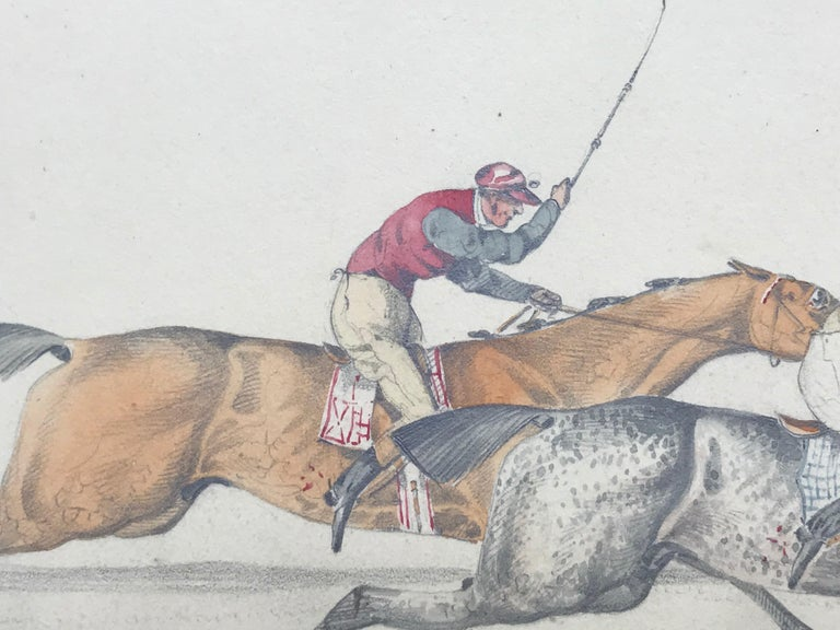 Graphite and watercolor attributed to the well known British artist, Henry Thomas Alken.  Circa 1825. Unsigned.   Condition:  Good.  Provenance:  Christie's London, 1993. Matted but presently unframed.  Alken was born on 12 October 1785 in Soho,