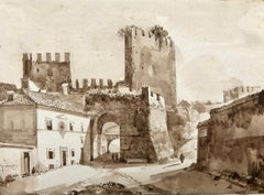 """View of Porta San Paolo, Rome"""