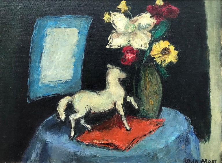 """Ida Moss Still-Life Painting - """"Still Life with Horse"""""""