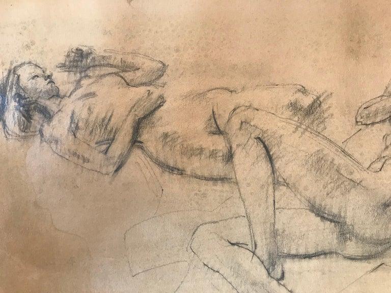 """""""Female Nude Study"""" - Brown Figurative Art by Warren Brandt"""