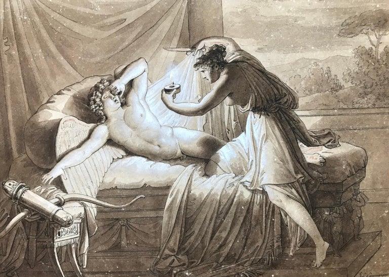 "Giuseppe Cammarano Figurative Art - ""Cupid and Psyche"""