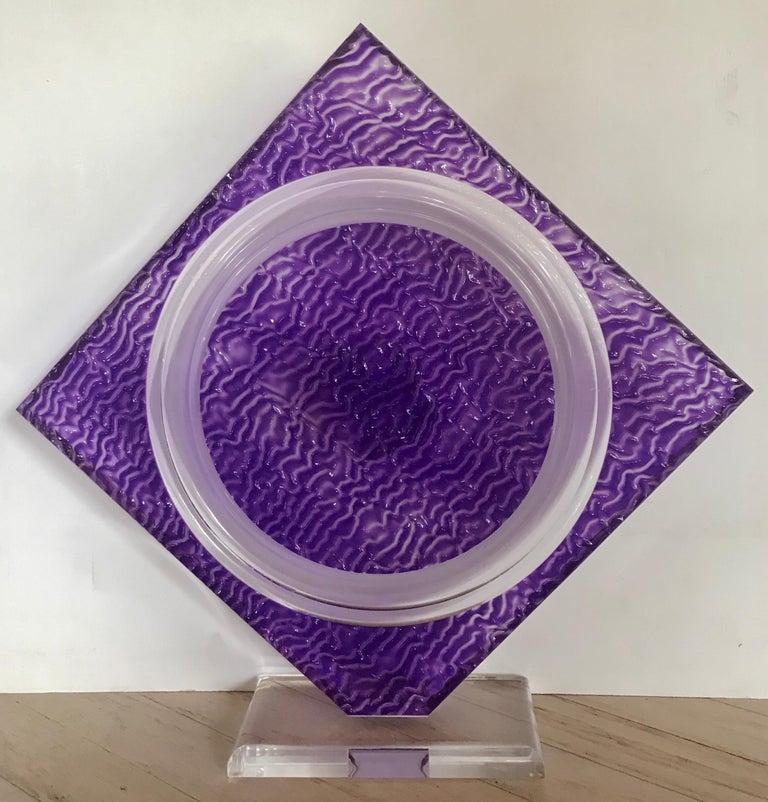 "Norman Mercer Abstract Sculpture - ""Amethyst Acrylic Sculpture"""