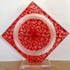 """""""Red Acrylic Sculpture"""""""
