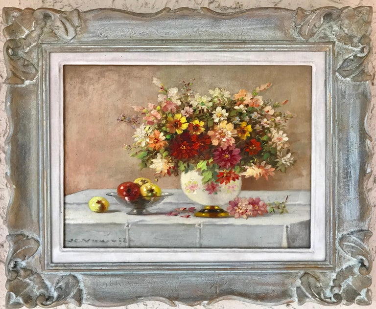 """""""Bouquet in Porcelain Vase"""" - Painting by Marko Vukovic"""