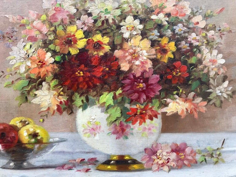 """""""Bouquet in Porcelain Vase"""" - Post-Impressionist Painting by Marko Vukovic"""