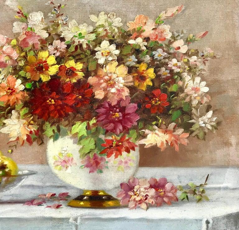 """Bouquet in Porcelain Vase"" For Sale 1"