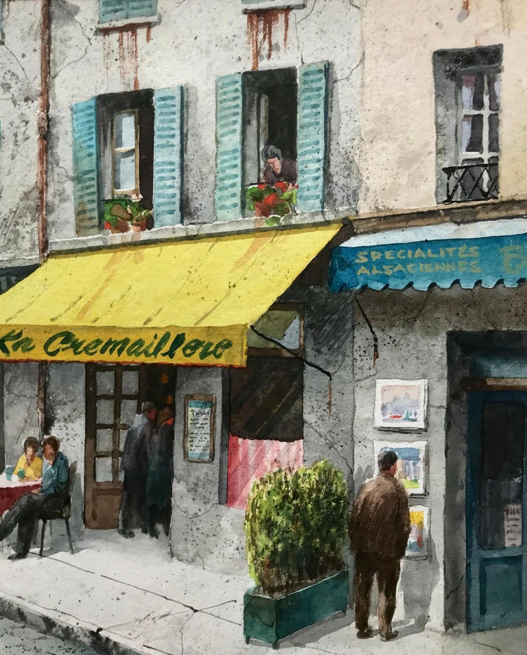 """""""La Crémaillère, Paris"""" - Art by Henry Martin Gasser"""
