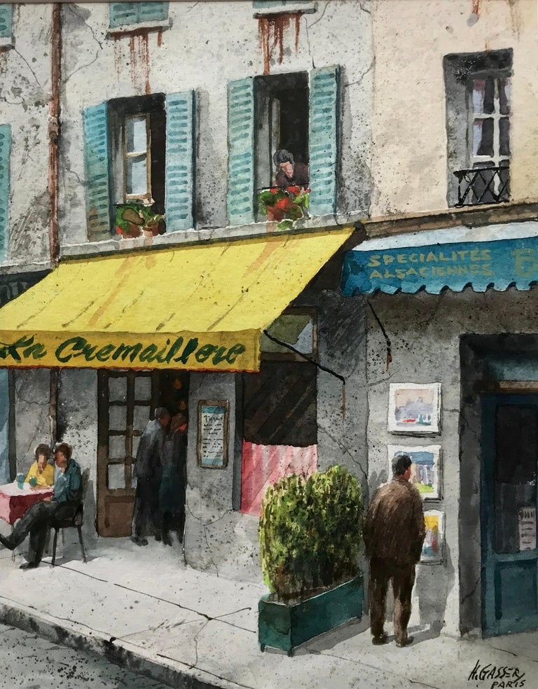 """La Crémaillère, Paris"" - American Modern Art by Henry Martin Gasser"