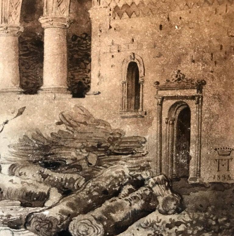 """Manoir d' Ango, Normandie"" - Art by Lancelot Theodore Turpin de Crisse"