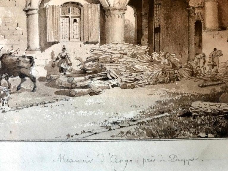 """Manoir d' Ango, Normandie"" - Academic Art by Lancelot Theodore Turpin de Crisse"