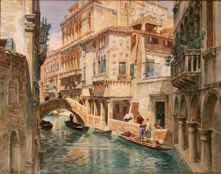 """Theodor Alphons Landscape Art - """"Venice Dreams"""""""
