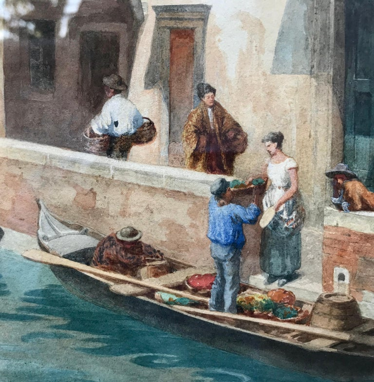 """Venice Dreams"" - Brown Landscape Art by Theodor Alphons"