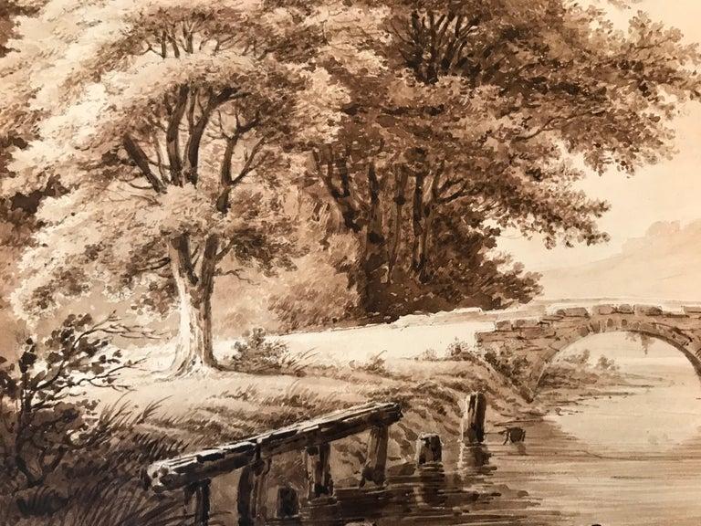 """""""Crossing the Bridge"""" - Beige Figurative Art by Unknown"""