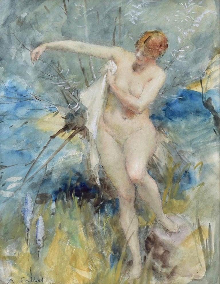 "Antoine Calbet Figurative Art - ""Bathing Beauty"""