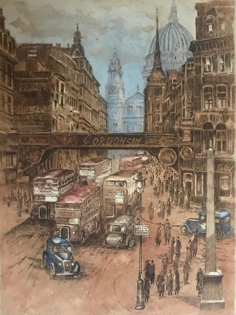 """Marianne L. Almasy Landscape Print - """"Paris-London"""""""