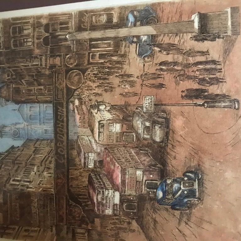 """Paris-London"" - Print by Marianne L. Almasy"